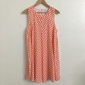 BCBGeration Orange Polka Dot Dress
